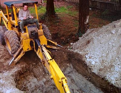 matt mcglynn, Installing a new septic tank, Spring 1998